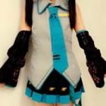 【画像】HKT48の田中美久(12) 初音ミクのコスプレ姿を公開 「天使じゃねーかwww」