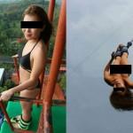【画像】香港人女性が全裸でバンジージャンプ 警察が捜査に乗り出す