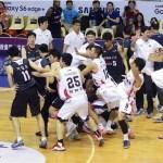 中韓バスケの親善試合で大乱闘、試合は途中で終了