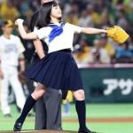 【動画像】橋本環奈ノーバン 天使すぎるセーラー服始球式