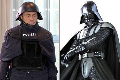 【画像】ドイツ警察の新しい制服がダースベーダーのようだと話題に