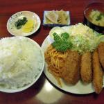 【画像】このミックスフライ定食(820円)wwwwwwwwww