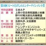 ビートたけしのエンタメ賞・特別話題賞 たけし「SMAPは早く手を打つべきだった」