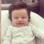 【画像】生後2か月で髪の毛がフサフサの赤ちゃんが発見される