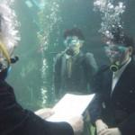 【画像】水中入社式