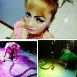 インドネシアの女性歌手イルマ・ブレ(29)さん、蛇に噛まれるも解毒剤を断ってショーを続け、舞台上で嘔吐痙攣、間もなく死亡