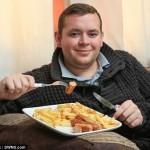 4歳から22年間ソーセージとポテトチップスしか食べていない男が話題