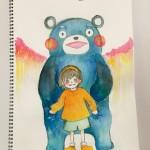 """能年玲奈が公開した""""くまモンのイラスト""""に大反響 「素晴らしい絵」「ジーンときた」"""