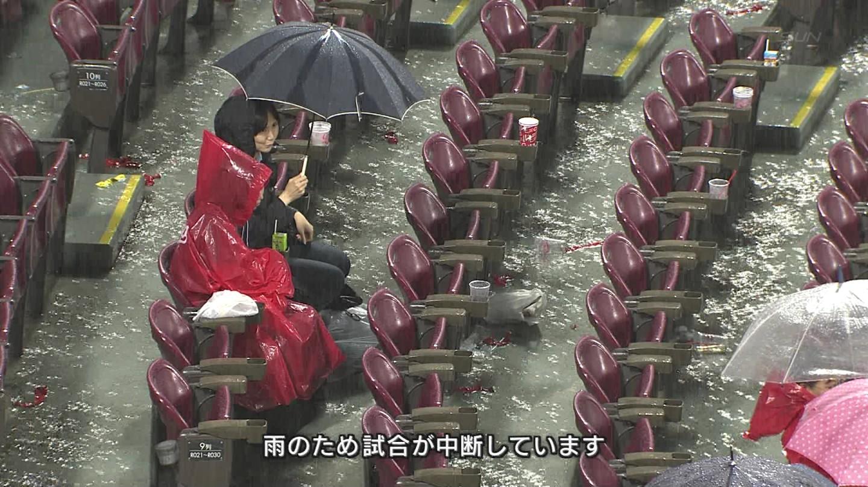 【画像】マツダスタジアム水没wwwwww