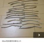 メルカリってすげーんだな 海で拾った木の棒を1400円で売ってるわ