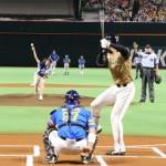 【画像】稲村亜美ちゃんが大谷翔平に投げた時の投球フォームwwwwww