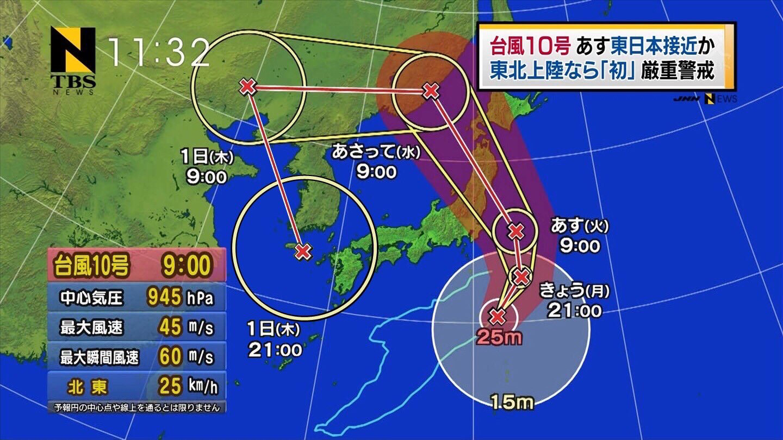 【悲報】台風10号さん、ガイジだった
