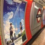 ロンドン地下鉄の駅構内に君の名は。ポスターが出現、しかも評価★★★★★ EMPIREwwww