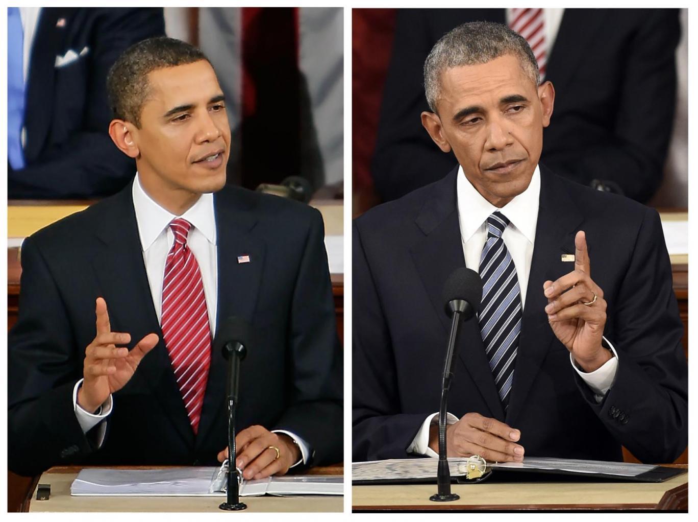 【画像】オバマの八年の老けっぷりがヤバイと話題に