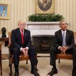 【画像】オバマと並んで座ってるトランプwwwwww