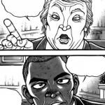 刃牙道、早くも新大統領をネタにする