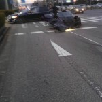【画像】ZOZOタウン社長のサエコの旦那、黒塗りの高級車に追突
