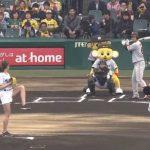 【画像】グラドル稲村亜美、始球式で渾身の投球 103kmストライクwwwwwww