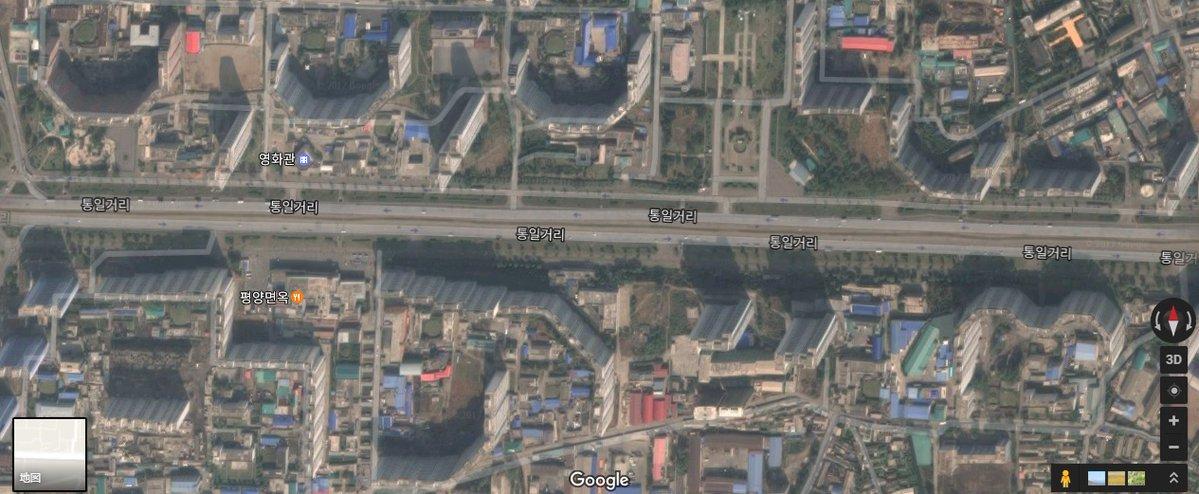 【悲報】平壌の高層ビル群がハリボテだとグーグルマップで判明
