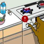 犬「飼い主おらんくて暇や…せや、コンロで遊んだろ!w」