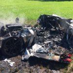 【画像】「フェラーリ」購入し、わずか1時間後に炎上し大破wwwwww