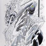 【画像】殺人鬼植松の書いた鯉の絵