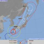 【訃報】台風18号さん、975hpaまで弱体化