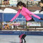 【画像】女子アナがパンチラしながらスケート