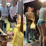 【画像】台湾の市場 美女がショートパンツで肉を切る姿見たさに客が殺到し売上が4倍に