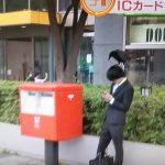 【画像】トンキンさん、頭の上にカラスが乗ってもスマホいじりを優先
