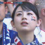 FIFA公式映像がちょくちょく映してた日本人美女www