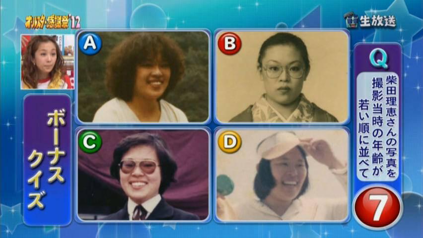 【画像】クイズ 柴田理恵の顔写真を若い順に並び替えよ
