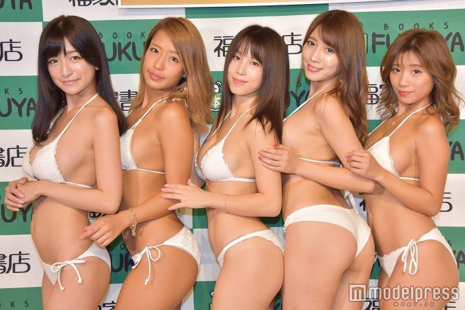 【画像】メンバー全員Gカップのグラビアユニット「誰のおっぱいが一番いい??」