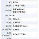 【速報】台風22号、21号以上の勢力に成長中