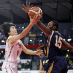【女子高バスケ】留学生のババアーメイド(195cm)選手が京都精華を連勝に導く