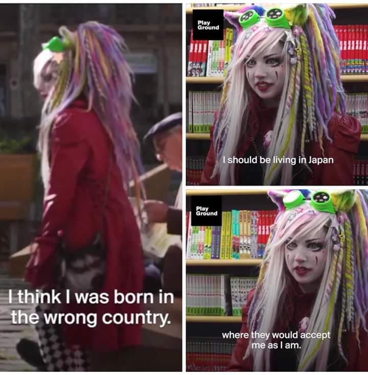 【画像】 白人女性「私は間違った国に生まれた。日本なら私のことを受け入れてくれるのに」