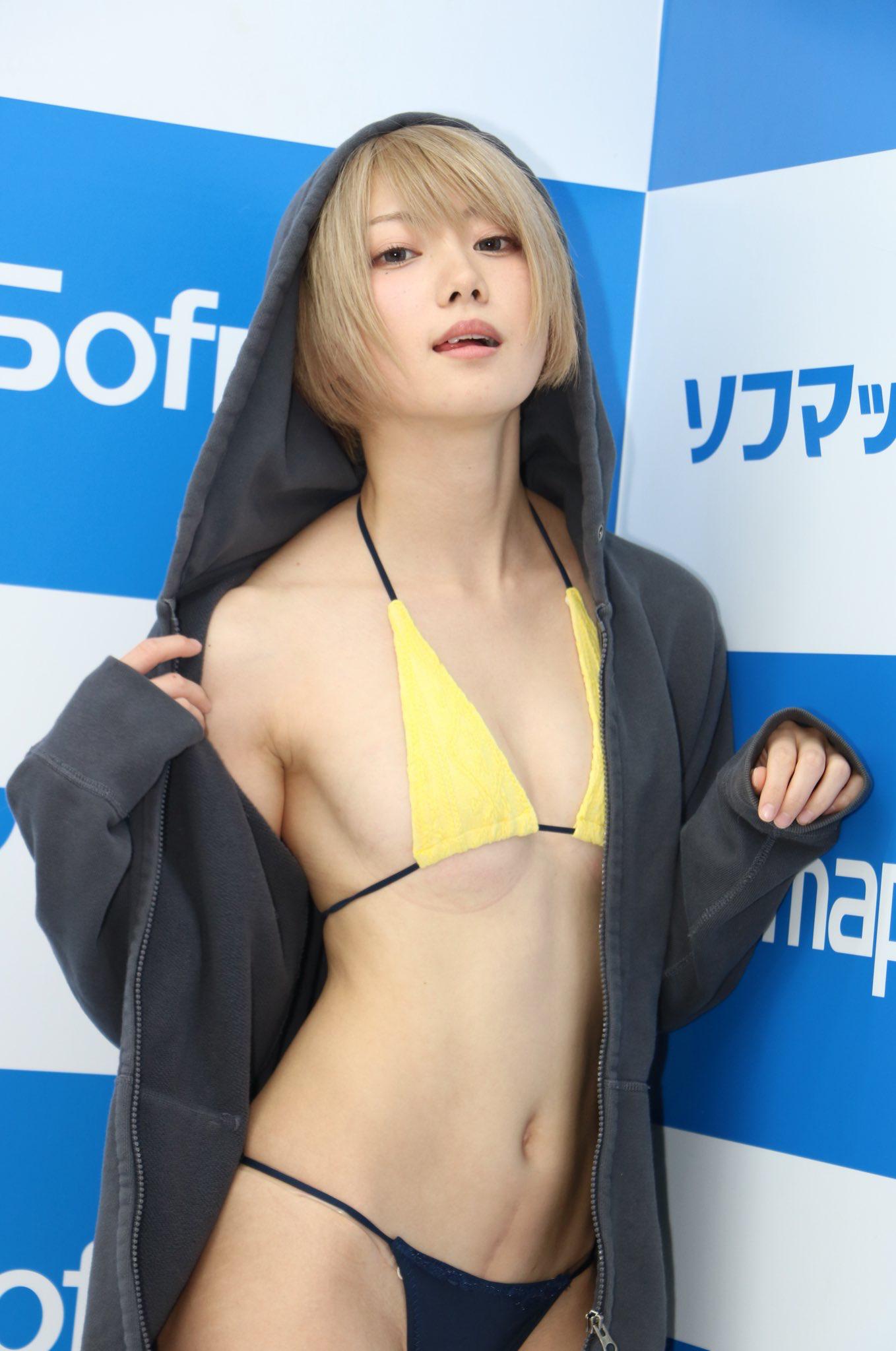 【画像】金髪×ショートカット×貧乳とかいう誰にも需要ないアイドルが登場してしまった模様