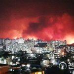 【速報画像】韓国の山がすげぇ燃えててヤバい