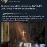 【画像】キリシタン「ノートルダム火災で十字架だけ残った! 奇跡だ!」 マジレス厨「!?」シュババババ