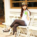【画像】女子の今年の夏ファッション、網タイツが流行る模様