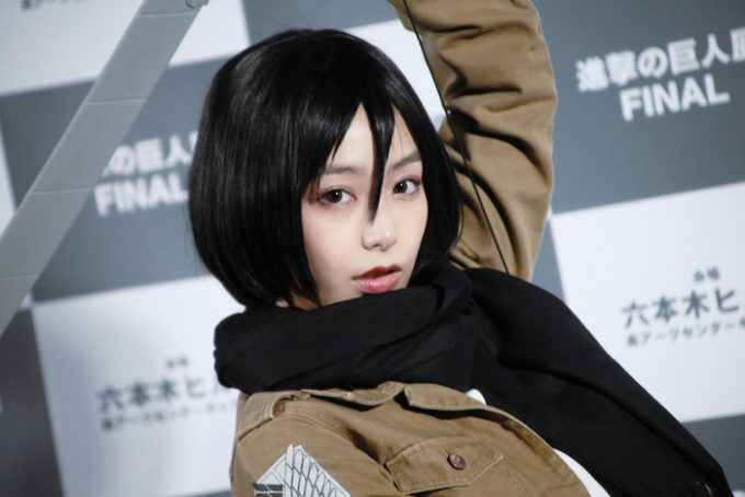 【画像】宇垣美里の進撃の巨人コスプレが可愛すぎるw