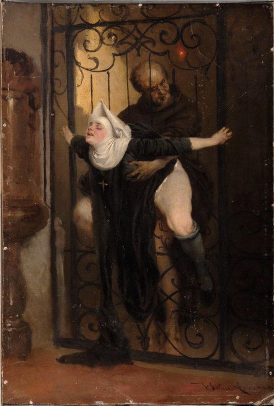 【画像】中世の修道女さん、太ももがエチエチすぎるww