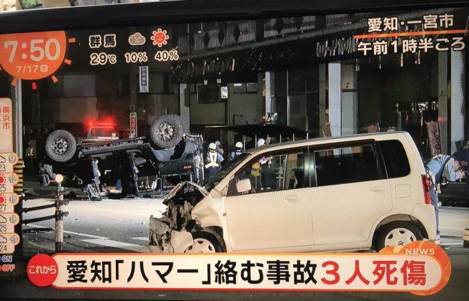 【画像】最強アメ車「ハマー」、軽自動車に負けて横転ww