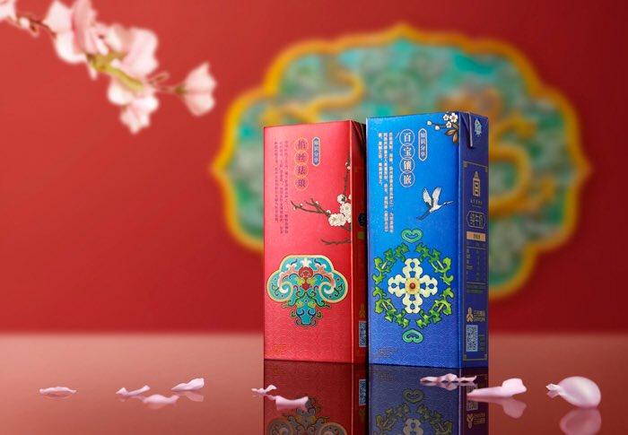 【画像】中国の紙パック牛乳のデザイン、超かっこいい