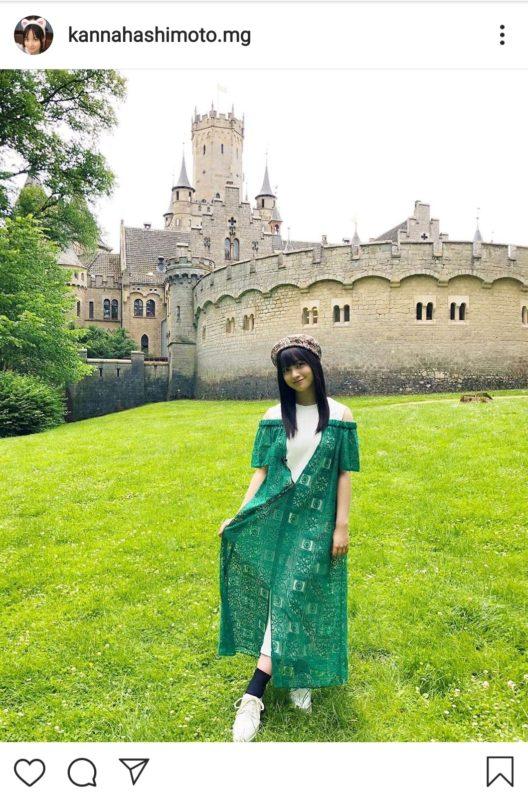 【画像】橋本環奈、ドイツの古城で撮影した壮麗ショットに「完全にお姫様じゃん!」の声