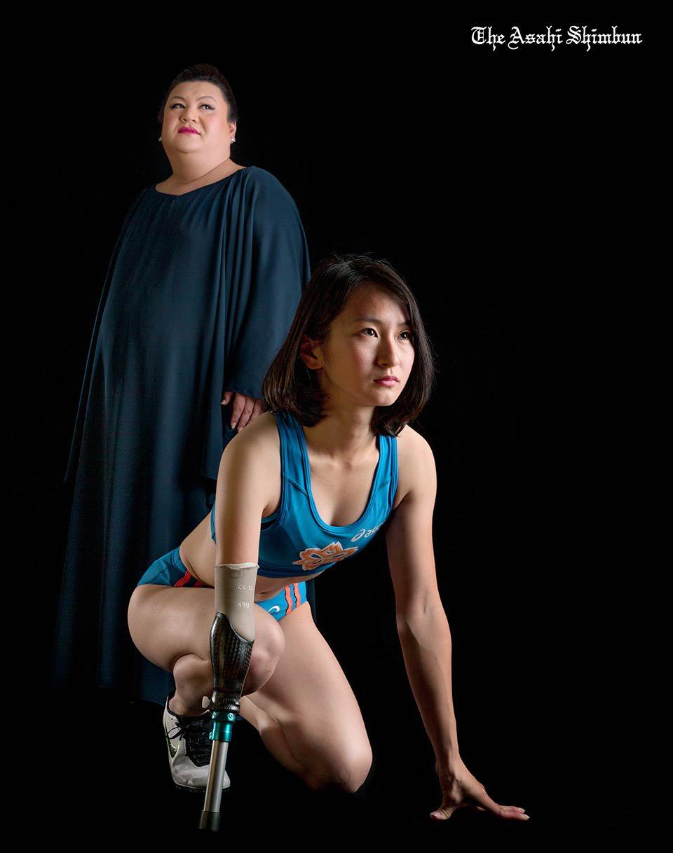 【画像】パラリンピック女性選手、Hな格好をするww