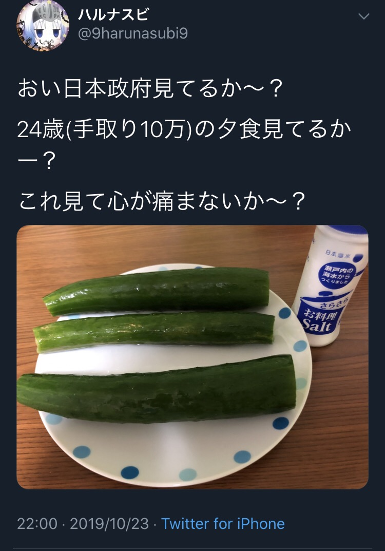 【画像】手取り10万円男性のお夕食wwww