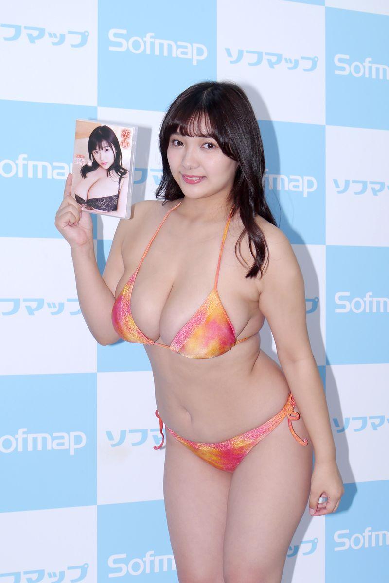 【画像】バスト103cm、Jカップ女子がソフマップw