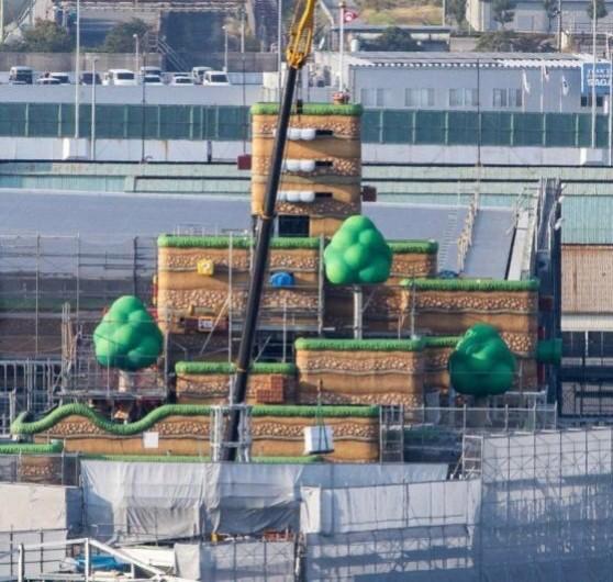 【画像】USJにて建設中の任天堂エリア、盗撮されてしまう