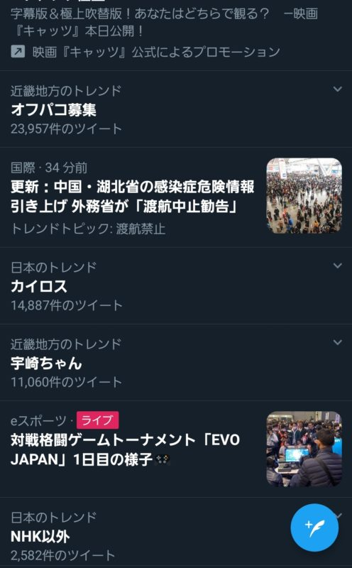 【画像】Twitterのトレンド、ヤバいwww